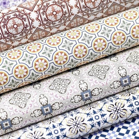 Inspiration papier d co azulejos du portugal decorer sa - Papier peint vintage pas cher ...