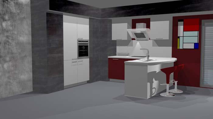 Votre future cuisine gr ce au studio 3d ixina decorer - Ixina cuisine 3d ...
