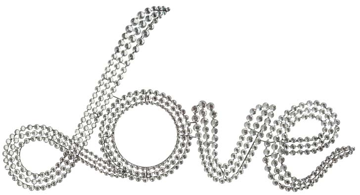 Plaque d co strass love decorer sa for Decoration murale love