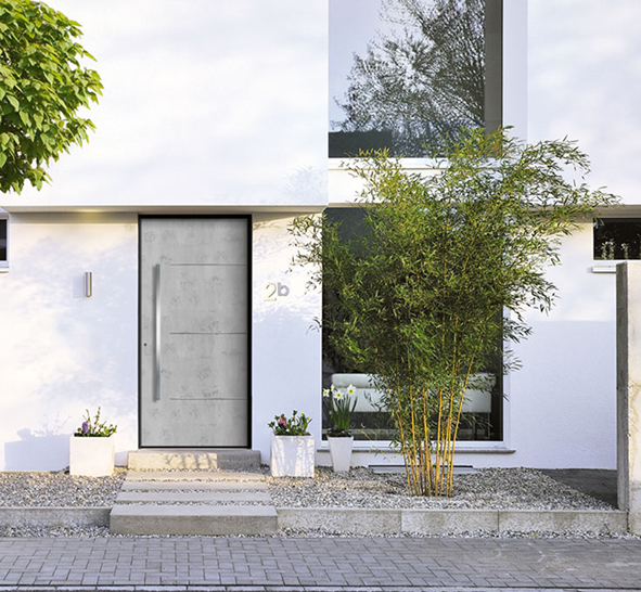 porte dentree beton decorer sa maisonfr With porte d entrée alu avec plaque revetement salle de bain