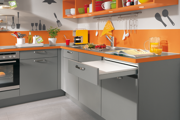 En cuisine orange is the new red decorer sa for Cuisine orange