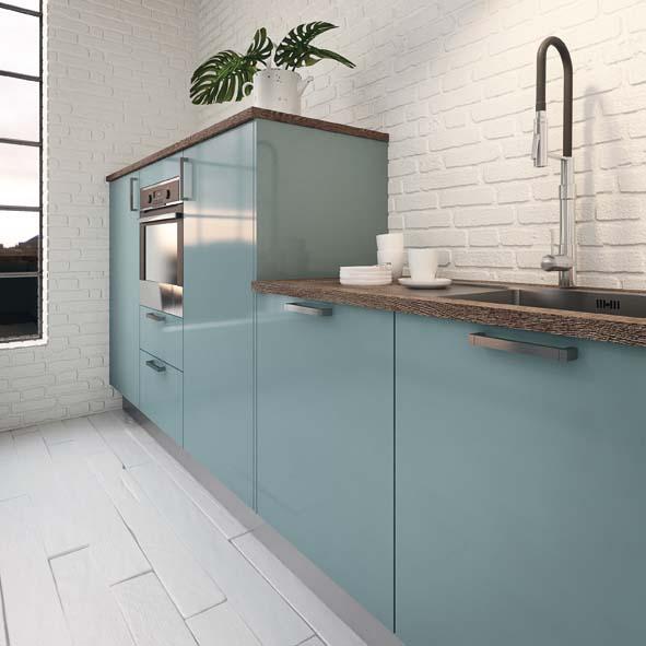 Hygena met du bleu dans la cuisine decorer sa for Cuisine amenagee bleue