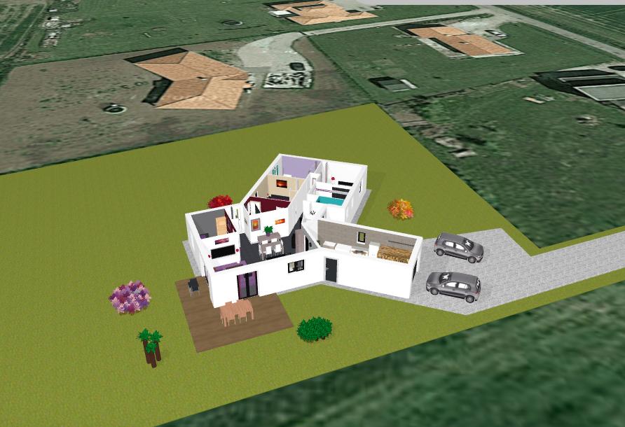 Donner vie votre projet de maison avec un plan 3d for Plan cuisine 3d kozikaza