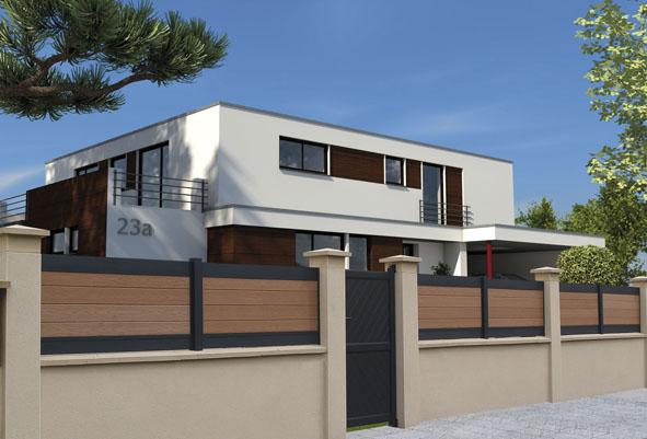 Une palissade sur mesure au design contemporain decorer for Maison bois design contemporain