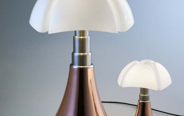 Nouvelle lampe Pipistrello cuivre