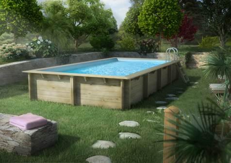 Détente au jardin avec les piscines bois hors-sol