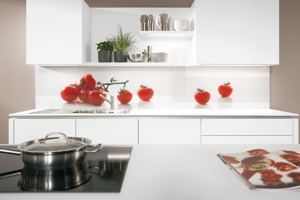 Aviva rouge rubis credence tomate decorer sa - Credence pour cuisine rouge ...