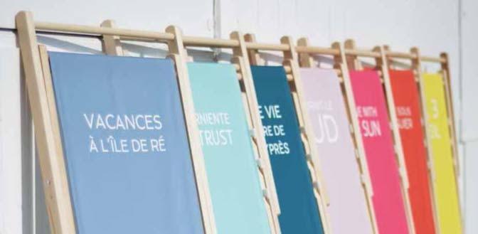 """Le transat """"Trendy"""", Chic & 100% personnalisable"""