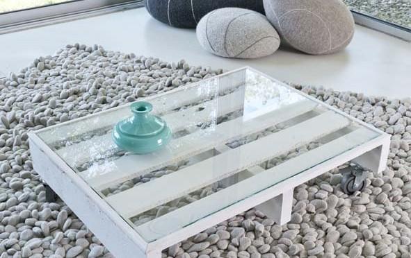 Transformer une palette en table basse