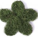 Petites fleurs en herbe artificielle, 10 cm, vendues par 3 (4,50 €)
