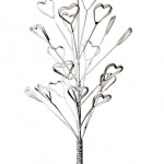 Portant branches cœur en métal, 50 cm (11,25 €).