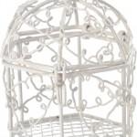 Bonbonnière cage en métal, différents coloris, vendues par 2 (5,50 €).