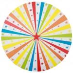 Set de table « Cirque » en carton, diamètre 34 cm. Lot de 6 (5,65 €).