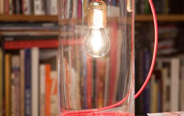 Creer une lampe transparente avec un vase