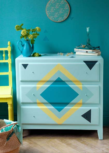 r aliser une commode esprit r cup decorer sa. Black Bedroom Furniture Sets. Home Design Ideas