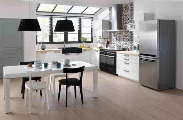 le vintage donne du caract re la cuisine. Black Bedroom Furniture Sets. Home Design Ideas