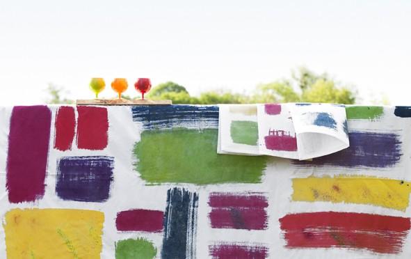 Créer une nappe multicolore