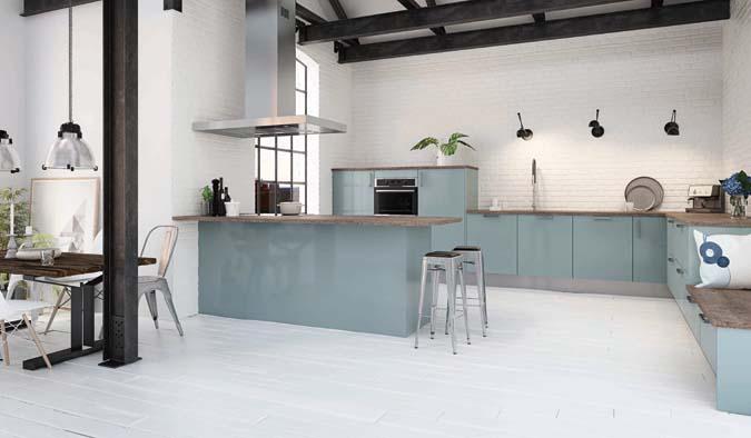 Hygena met du bleu dans la cuisine - Decorer-sa-maison.fr