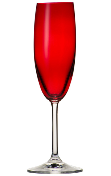 Sibo Homeconcept. Flûte à champagne 17,5cl, collection Rubis, 6,60 € (www.sibohomeconcept.fr).